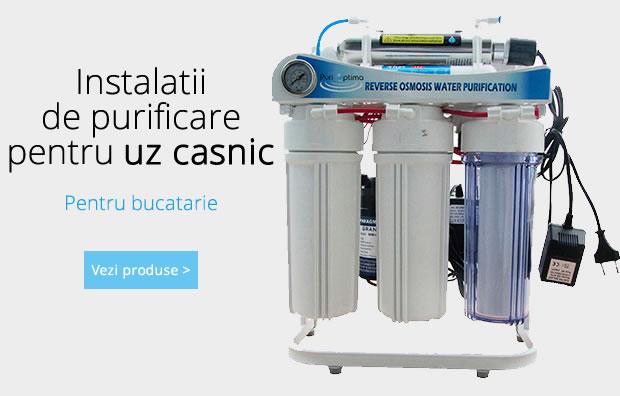 Instalatii de purificare a apei pentru bucatarie