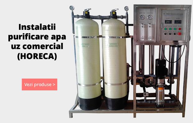Instalatii comerciale de purificare a apei pentru uz rezidential