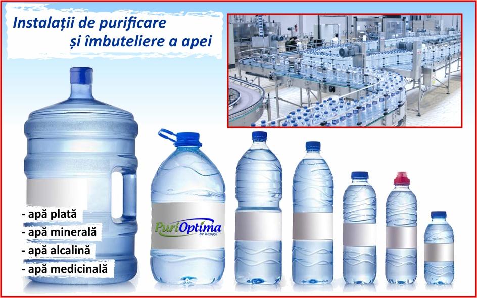Instalatii de imbuteliere a apei