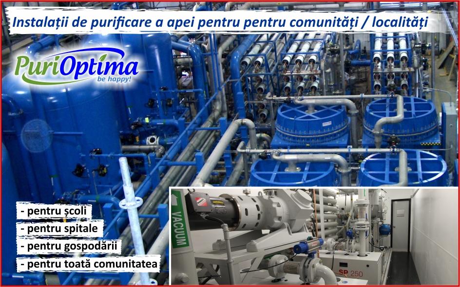 Instalatii industriale de tratare a apei